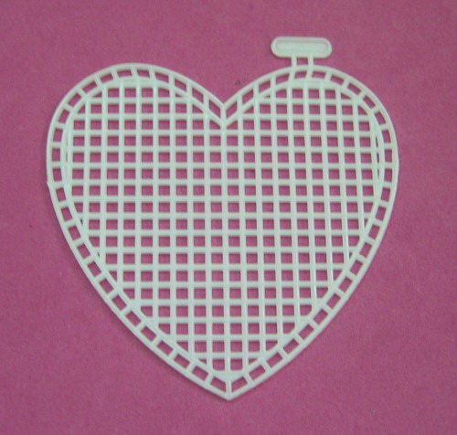 Plastic canvas sheets-3 heart